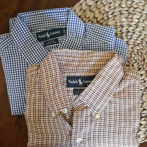 Ralph Lauren button up plaid Blake shirts Size Med